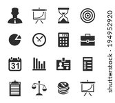 business icons. vector... | Shutterstock .eps vector #194952920