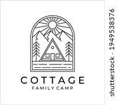 cottage or cabin line art...   Shutterstock .eps vector #1949538376