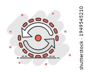 oval with arrows icon in comic... | Shutterstock .eps vector #1949545210