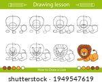 draw step by step lesson for... | Shutterstock .eps vector #1949547619