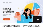 landing page template of... | Shutterstock .eps vector #1949558566