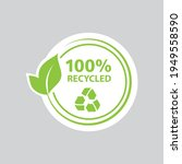 100  recycled sticker  stamp ...   Shutterstock .eps vector #1949558590