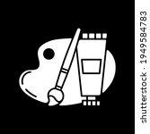 arts and craft dark mode glyph...   Shutterstock .eps vector #1949584783