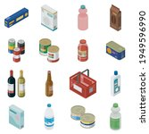 set of isometric grocery...   Shutterstock .eps vector #1949596990