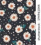 Seamless Flower Daisy Print...