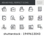 set of vector line icons... | Shutterstock .eps vector #1949613043