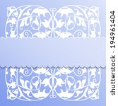 vector paper frame on blue... | Shutterstock .eps vector #194961404