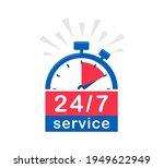 24 7 service. 24 7 open ... | Shutterstock .eps vector #1949622949