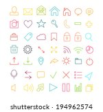 color line icons for web and... | Shutterstock .eps vector #194962574
