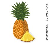 tropical fruit pineapple.... | Shutterstock .eps vector #1949627146