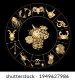 virgo of astrology design... | Shutterstock .eps vector #1949627986