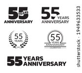 55 Years Anniversary Icon Or...