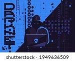 vector illustration of a hacker ... | Shutterstock .eps vector #1949636509