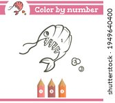 shrimp color by numbers.... | Shutterstock .eps vector #1949640400