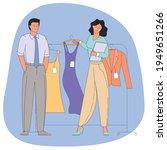 people shopping flat vector... | Shutterstock .eps vector #1949651266