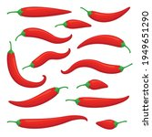 closeup red chilly pepper... | Shutterstock .eps vector #1949651290