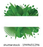 vector banner with tropical... | Shutterstock .eps vector #1949651296