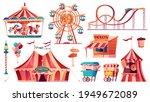 set of amusement park icons....   Shutterstock .eps vector #1949672089