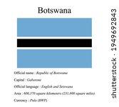 botswana national flag  country'...   Shutterstock .eps vector #1949692843