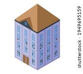 big creepy house icon.... | Shutterstock .eps vector #1949695159