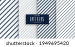 set of diagonal lines patterns... | Shutterstock .eps vector #1949695420