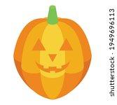creepy pumpkin icon. isometric... | Shutterstock .eps vector #1949696113