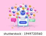 3d social media platform ... | Shutterstock .eps vector #1949720560