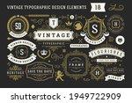 vintage typographic decorative... | Shutterstock .eps vector #1949722909