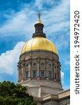 Gold Dome Of Georgia Capitol I...