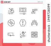 9 creative icons modern signs... | Shutterstock .eps vector #1949728399