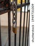 Hanging Chain From A Metal Door ...