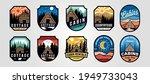set of vector cottage outdoor...   Shutterstock .eps vector #1949733043