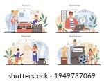 screenwriter concept set....   Shutterstock .eps vector #1949737069
