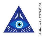 greek evil eye  symbol of... | Shutterstock .eps vector #1949740150