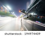 car on the road with motion... | Shutterstock . vector #194974409