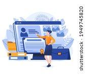 professional portfolio scene.... | Shutterstock .eps vector #1949745820