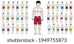 handsome men in beach shorts...   Shutterstock .eps vector #1949755873