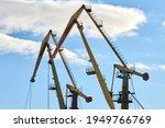 Massive Harbor Cranes In...