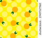 seamless citrus orange vector... | Shutterstock .eps vector #1949767960