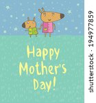 mother's day. greeting cards. | Shutterstock .eps vector #194977859