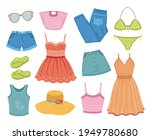 fashion summer clothes....   Shutterstock .eps vector #1949780680