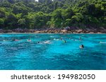 tropical crystal clear sea ... | Shutterstock . vector #194982050