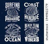 tshirt print with ocean shells  ... | Shutterstock .eps vector #1949822779