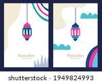 set of ramadan kareem... | Shutterstock .eps vector #1949824993