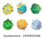 cartoon planet. earth... | Shutterstock .eps vector #1949829286