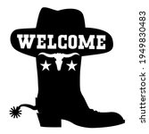 Welcome To Texas Vector Black...