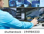 security guard watching and... | Shutterstock . vector #194984333