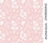 white tree branches on pink... | Shutterstock .eps vector #1949850943