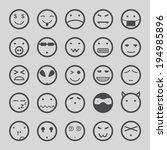 faces icons set. vector | Shutterstock .eps vector #194985896