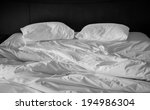 two wrinkle pillow on bed in... | Shutterstock . vector #194986304